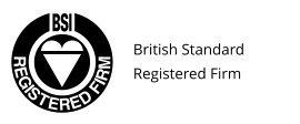 British Standard BSI Registered Firm Logo