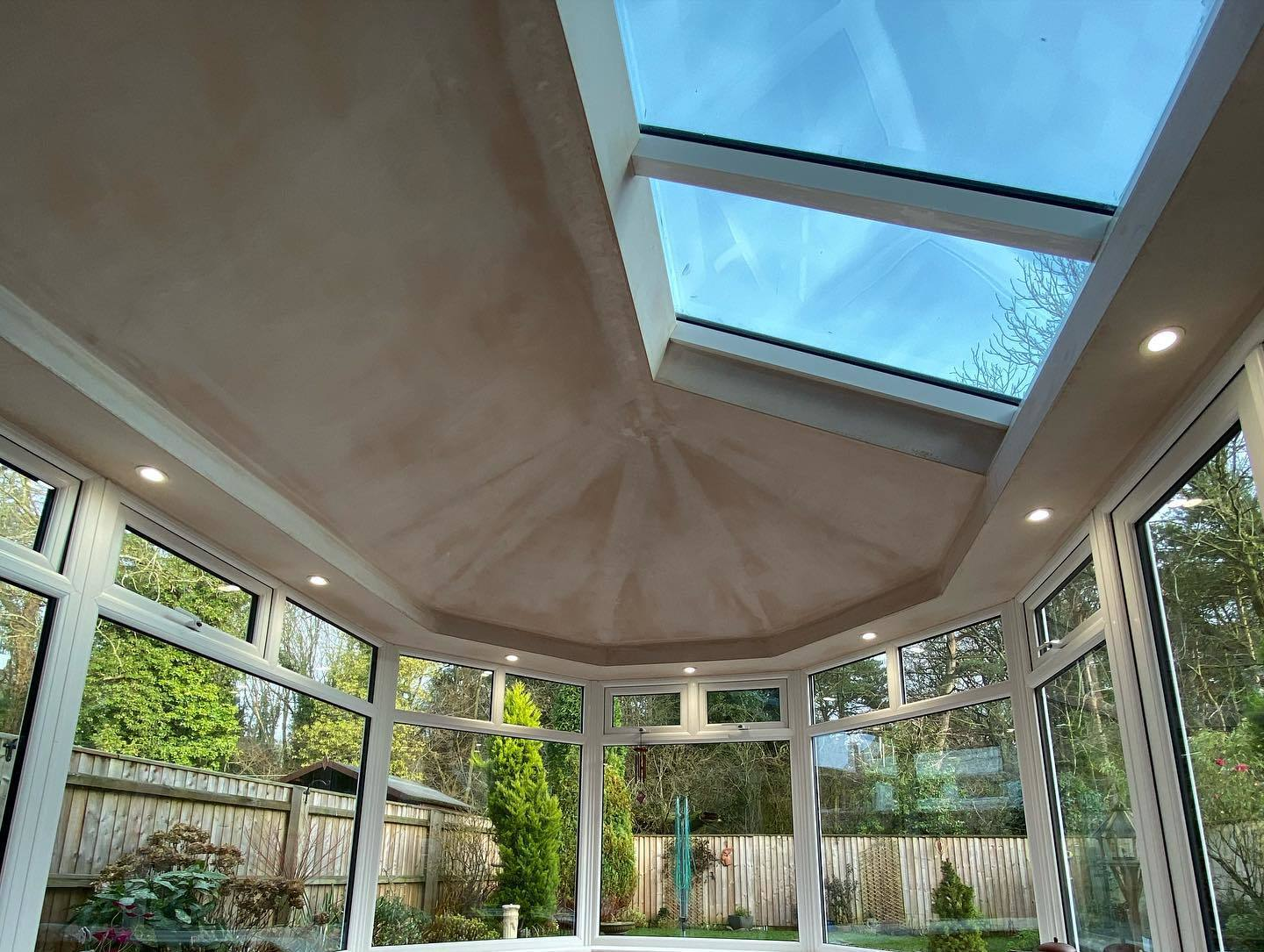 Custom Choice Windows Ultra380 Roof Conservatory Interior Before Final Plaster Finish