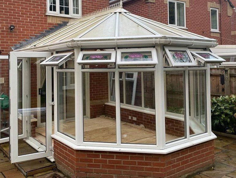 Old Conservatory BEFORE Refurbishment