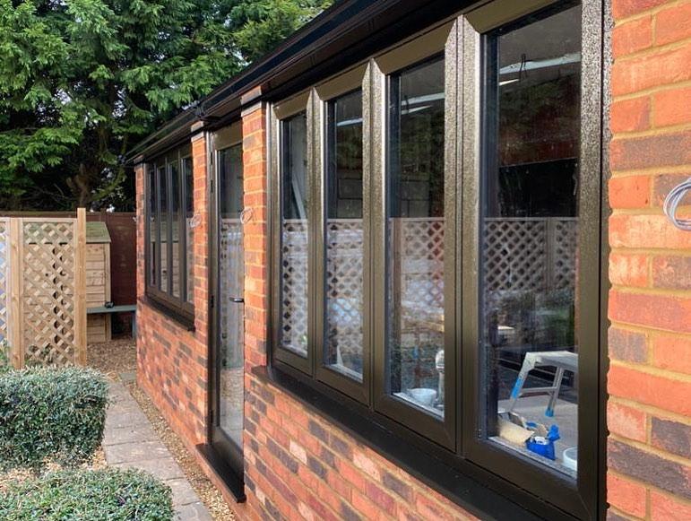 Conservatory - guardian roof - flush windows