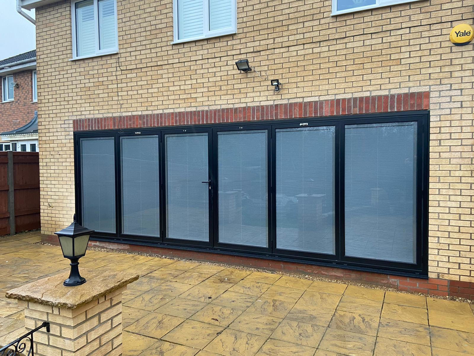 Bi Folding Doors Main With Blinds